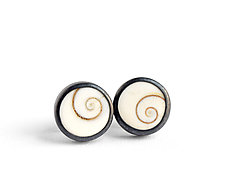 Operculum Earrings by Boline Strand (Silver & Shell Earrings)