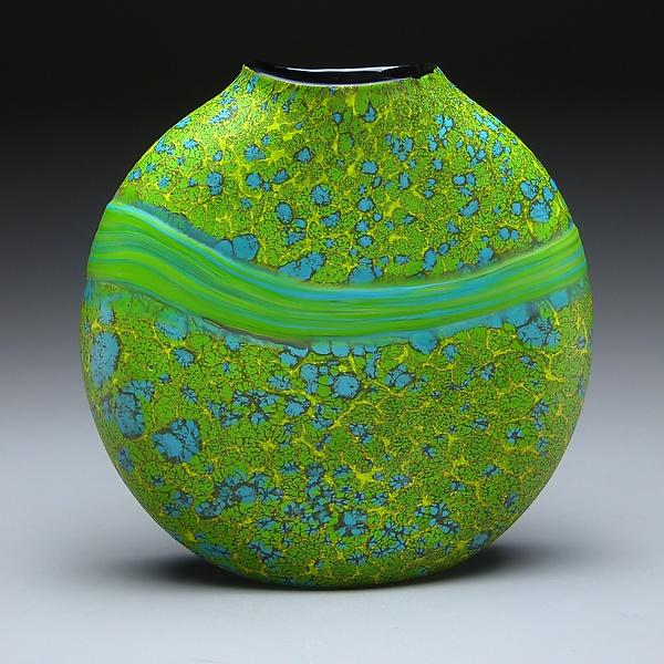 Green Strata Vase By Thomas Spake Art Glass Vase Artful Home