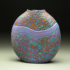 Purple Strata Vase by Thomas Spake (Art Glass Vase)