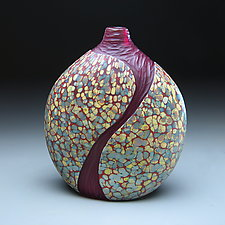 Lava Flows Cascade Vase by Thomas Spake (Art Glass Vessel)