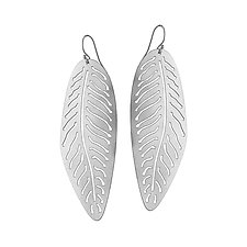 Fossil Fern by Amerinda Alpern (Silver Earrings)