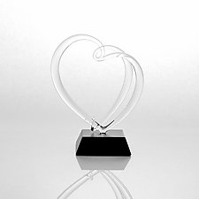 Love Forever Heart by Hung Nguyen (Art Glass Sculpture)
