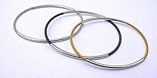 Oval Bangle by Laurette O'Neil (Silver Bracelet)