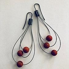 Whisk Away Earrings by Laurette O'Neil (Silver & Stone Earrings)