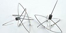 Quantum Earrings by Laurette O'Neil (Silver Earrings)