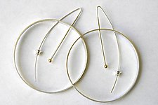 Silver Annulus Earrings by Laurette O'Neil (Silver Earrings)