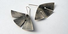 Butterfly Earrings by Laurette O'Neil (Silver Earrings)