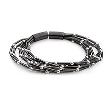 Multi-Strand Sterling Silver Bracelet by Laurette O'Neil (Silver Bracelet)