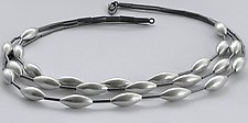 Three-Strand Cone Necklace by Laurette O'Neil (Silver Necklace)