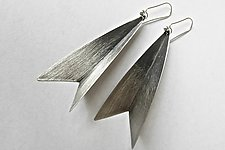 Tulip Earrings by Laurette O'Neil (Silver Earrings)
