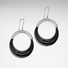 Sleek Wire Earrings by Laurette O'Neil (Steel Earrings)