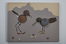 Birdscape by Kiffi Diamond (Mixed-Media Wall Hanging)