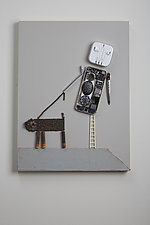 Walking The Dog by Kiffi Diamond (Mixed-Media Wall Hanging)