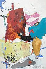 Polka Dots by Theresa Vandenberg Donche (Mixed-Media Painting)