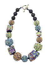 Colores del Sol Necklace in Carnivale by Sheila Fernekes (Glass Bead Necklace)