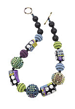Colores del Sol with Dots by Sheila Fernekes (Glass Bead Necklace)