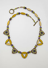 Art Deco Necklace by Sheila Fernekes (Glass Bead Necklace)