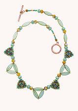 Art Deco Necklace by Sheila Fernekes (Glass Bead Necklace)