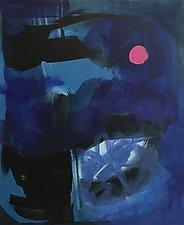 Pink Moon Storm by Amantha Tsaros (Acrylic Painting)