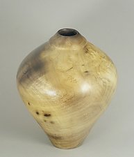 Figured Myrtle Hollow Form by Eric Reeves (Wood Vessel)
