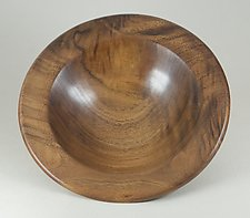 Figured Claro Walnut Bowl by Eric Reeves (Wood Bowl)
