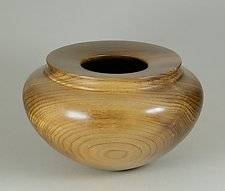 Figured Myrtle Enclosed Form by Eric Reeves (Wood Vessel)
