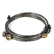 Acacia Drop Bangle by Emily  Hunziker Phillips (Gold & Silver Bracelet)