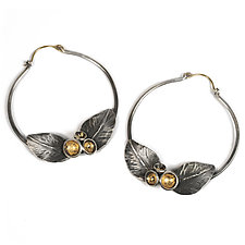 Acacia Bloom Hoops by Emily  Hunziker Phillips (Gold & Silver Earrings)