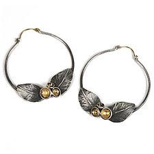 Acacia Bloom Hoops by Emily  Hunziker Phillips (Gold & Silver Earrings)