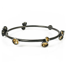 Acacia Cluster Bangle by Emily  Hunziker Phillips (Gold & Silver Bracelet)