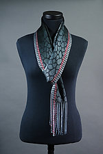 Leopard Scarf in Charcoal by Mindy McCain (Tencel Scarf)
