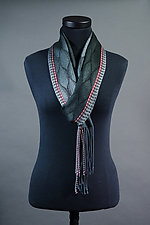 Feathers Scarf in Charcoal by Mindy McCain (Tencel Scarf)