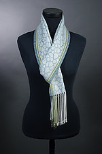 Leopard Scarf in Silver by Mindy McCain (Tencel Scarf)