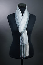 Feathers Scarf in Silver by Mindy McCain (Tencel Scarf)