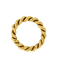 18K Rope Ring Band by Lori Kaplan (Gold Ring)