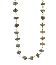 Labradorite Choker by Lori Kaplan (Gold & Stone Necklace)