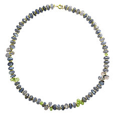 Signature Labradorite Necklace by Lori Kaplan (Gold & Stone Necklace)