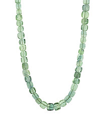 Fluorite Squares Necklace by Lori Kaplan (Beaded Necklace)