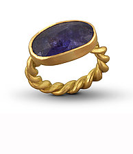 Tanzanite Rope Ring by Lori Kaplan (Gold & Stone Ring)