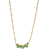 Signature Mini-Apatite Necklace by Lori Kaplan (Gold & Stone Necklace)