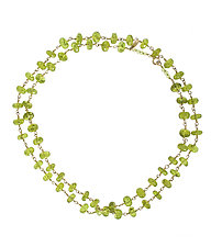 Double Peridot by Lori Kaplan (Gold & Stone Necklace)