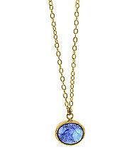 Tanzanite 18K Choker by Lori Kaplan (Gold & Stone Necklace)