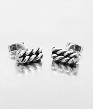 Twizzler Sterling Cuff Links by Lori Kaplan (Silver Cuff Links)