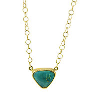 Persian Turquoise Necklace by Lori Kaplan (Gold & Stone Necklace)