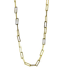 Square Link Necklace by Lori Kaplan (Gold Necklace)