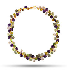 Signature Multi-Gem Necklace by Lori Kaplan (Gold & Stone Necklace)