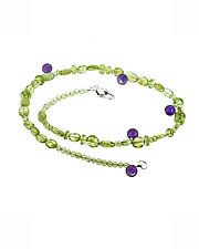 Peridot and Amethyst Necklace by Lori Kaplan (Jewelry Necklaces)