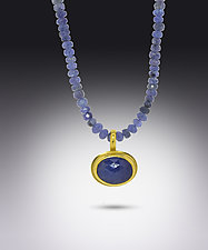 Tanzanite Pendant Necklace by Lori Kaplan (Gold & Stone Necklace)