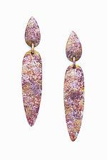 Shield Earrings by Sher Novak (Silver & Bronze Earrings)