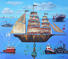 Ship Ahoy by Warren Godfrey (Acrylic Painting)